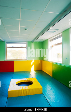 image of soft playing area for children - Stock Image