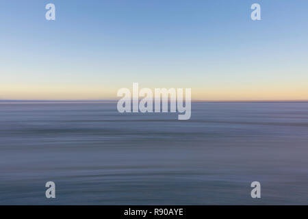 Blurred motion abstract of Salt Flats at dusk - Stock Image