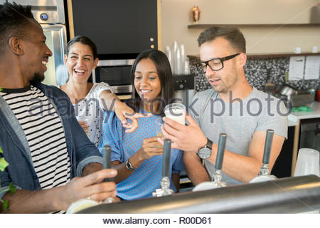 Colleagues with beer - Stock Image