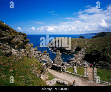 Tintagel Castle Cornwall England UK - Stock Image