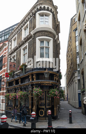 Exterior of The Cockpit public house, St. Andrew's Hill, City of London, UK - Stock Image