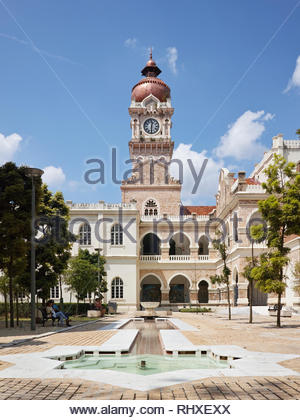 Clocktower of the Bangunan Sultan Abdul Salad building within the old city heritage quarter of Kuala Lumpur: Malaysia. - Stock Image
