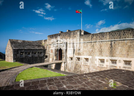 St. Kitts and Nevis, St. Kitts. Brimstone Hill Fortress - Stock Image