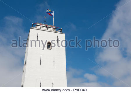 Katwijk The Netherlands Vuurbaak van Katwijk aan Zee, the second oldest lighthouse in the country. - Stock Image