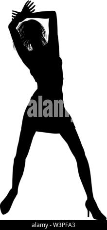 Dance Dancer Silhouette - Stock Image