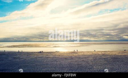 Carmel by the Sea, CA. Sunset Beach - Stock Image
