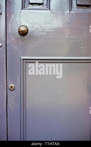 Grey Door - Stock Image