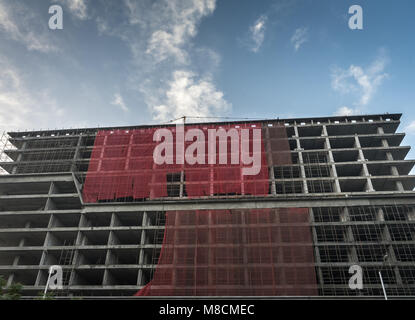 Building under construction at Ahmedabad city of India. - Stock Image
