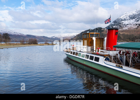 Lady of the Lake Ullswater steamer in Winter - Stock Image