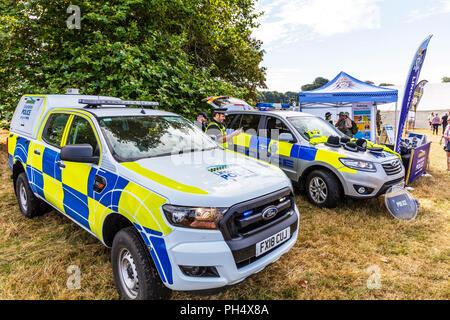 Police cars, police vehicles UK, UK police cars, UK police vehicles, marked police cars, UK, England, Lincolnshire police, policing, cars, car vehicle - Stock Image