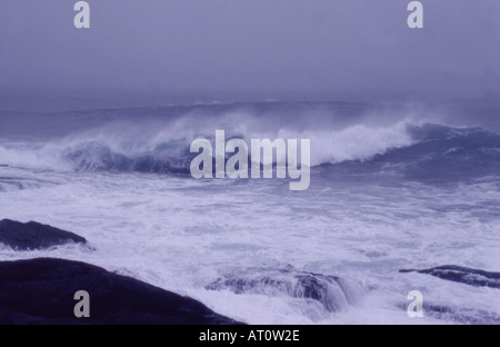Stormy sea in Hebrides Scotland - Stock Image