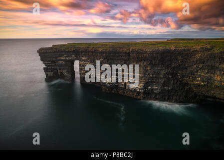Sea arch view in County Clare - Ireland - Stock Image