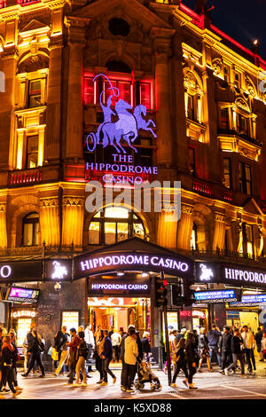 Hippodrome Casino London, Hippodrome Casino, Cranbourn Street, Leicester Square, London WC2H, United Kingdom, Hippodrome London, Hippodrome building - Stock Image