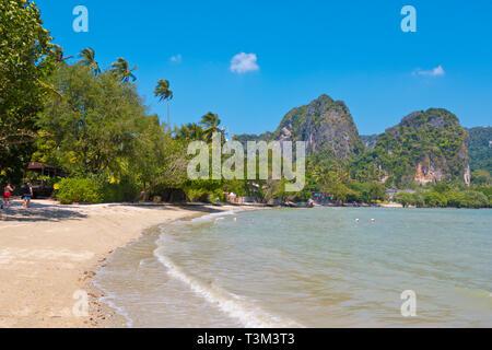 East Railay Bay Beach, Railay, Krabi province, Thailand - Stock Image