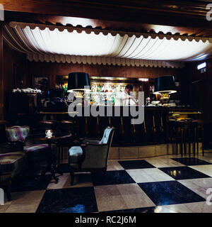 Famous Spy Bar in Hotel Palacio, Estoril, Portugal, made famous as a gathering place for spies during WWII including Naval Officer, Ian Fleming - Stock Image