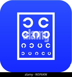 Ophthalmology tablet icon, simple style - Stock Image