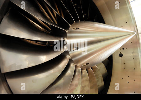 Eurojet EJ-200 jet aero-engine on the production-line at the Rolls-Royce Bristol factory at Patchway / Filton, Bristol, UK - Stock Image