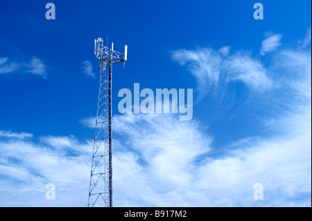 mobile phone tower - Stock Image