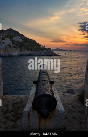 Cannon of Hydra island - Stock Image