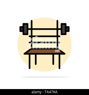 Balance, Dumbbell, Fitness, Gym, Machine Abstract Circle Background Flat color Icon - Stock Image