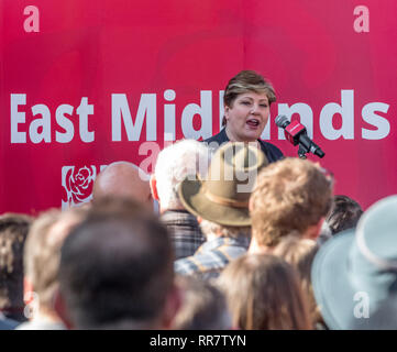 Emily Thornberry at a Labour Party rally with Jemery Corbyn in Broxtowe, Nottingham, UK - Stock Image