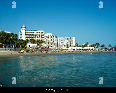 The beach front of Marbella - Stock Image