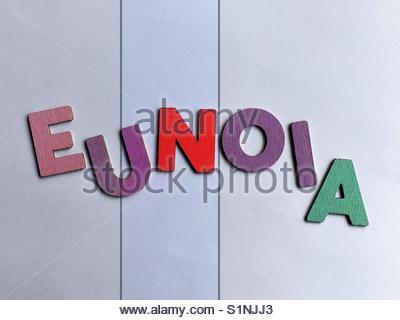 eunoia (word) - Stock Image