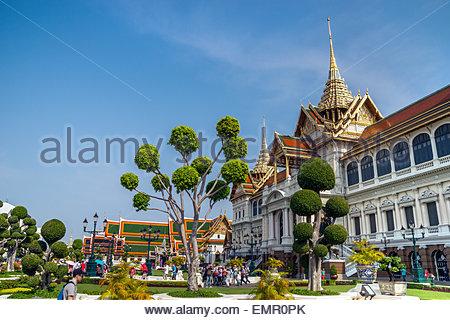 The Grand Palace (Phra Borom Maha Ratcha Wang) in Bangkok, Thailand - Stock Image
