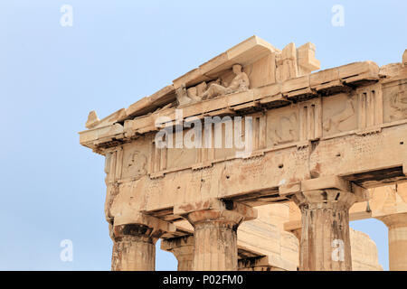 Parthenon temple, Acropolis of Athens, Ancient Greece - Stock Image