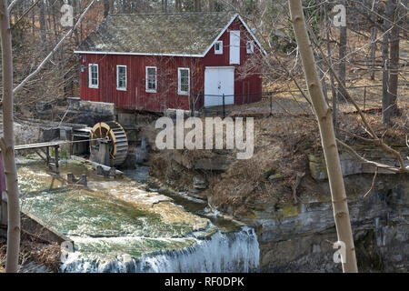 Morningstar Mill by Decew Falls in St. Catharines, Ontario, Canada, in the Winter. - Stock Image