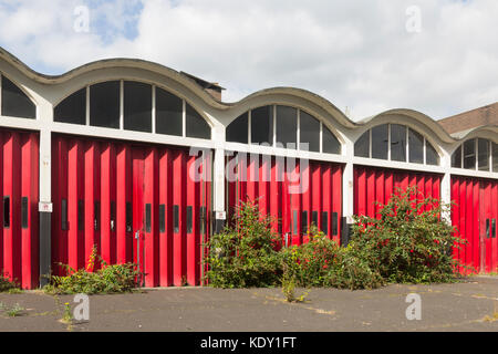 Former Bury fire station on The Rock, Bury., Greater Manchester. The 1965 building was the base of the Bury branch - Stock Image