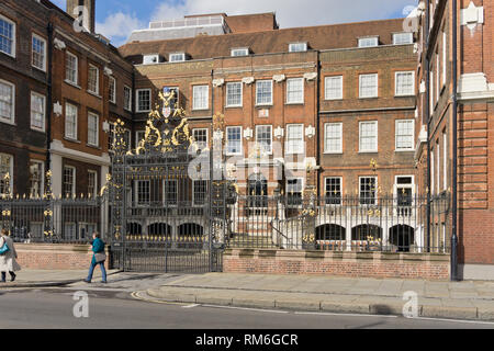 The frontage of the College of Arms, also known as the Heralds College, City of London, UK - Stock Image