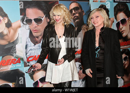 New York, USA. 13 March, 2009. Actress, Taylor Momsen, Debbie Harry at the launch of Carrera Vintage Sunglasses at Angel Orensanz Foundation. Credit: Steve Mack/Alamy - Stock Image