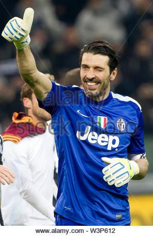 gianluigi buffon, juventus-roma, torino 05.01.14 - Stock Image