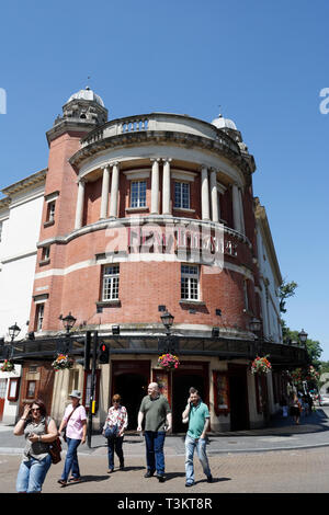 New Theatre building Cardiff Wales UK - Stock Image
