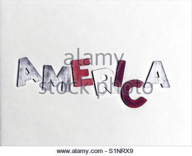 America (word) - Stock Image