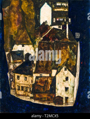 Egon Schiele, Dead City III (City on the Blue River III), painting, 1911 - Stock Image