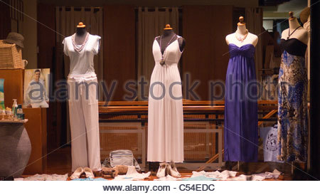 Expensive designer clothing for sale Greece - Stock Image
