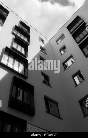 The geometry of the windows on the facade - Stock Image