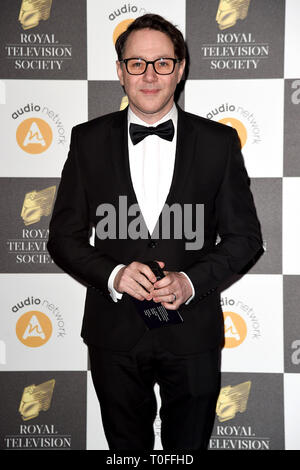 LONDON, UK. March 19, 2019: Reece Sheersmith arriving for the Royal Television Society Awards 2019 at the Grosvenor House Hotel, London. Picture: Steve Vas/Featureflash Credit: Paul Smith/Alamy Live News - Stock Image