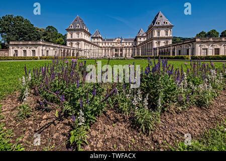 Italy Piedmont Turin Valentino park  - Valentino castle - Stock Image