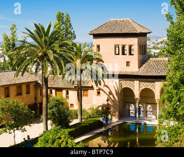 Torre de las Damas, Alhambra Palace, Granada, Andalucia, Spain - Stock Image