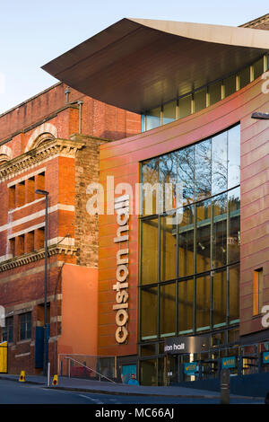 Colston Hall, Bristol, the new foyer building of 2009 designed by Levitt Bernstein. - Stock Image