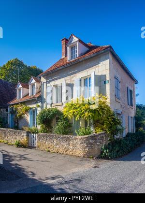 Large detached village house - France. - Stock Image