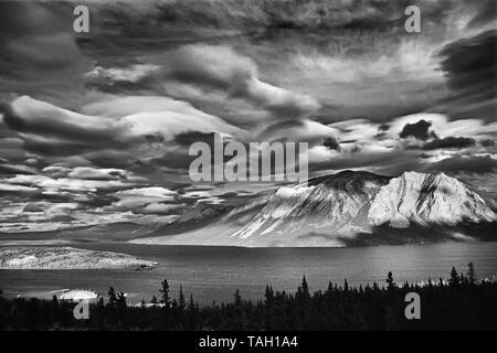 Nares Mountain, Nares Lake an arm of Tagish Lake, Nares Lake, Yukon, Canada - Stock Image