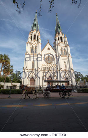 Cathedral of St. John the Baptist, Savannah, Georgia - Stock Image