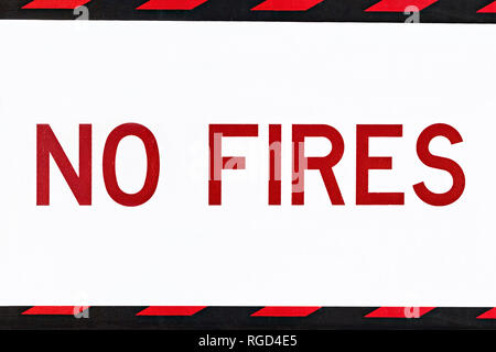 (Total Fire Ban Day ) ( Part of restriction notice stating NO Fires) This is the CFA (Country Fire Authority) fire danger rating system.The extreme fi - Stock Image