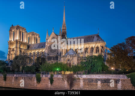 Cathedral Notre-Dame in Paris - Stock Image