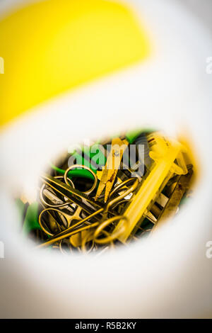 Contaminated sharps disposal. - Stock Image