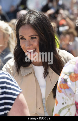 Meghan Markle, Duchess of Sussex, and Prince Harry Duke of Sussex, pictured at the Sydney Opera House in Sydney, Australia on October 16th 2018. - Stock Image